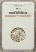 Standing Liberty Quarters: , 1926-D 25C MS64 NGC. NGC Census: (949/258). PCGS Population(1407/200). Mintage: 1,716,000. Numismedia Wsl. Price for probl...
