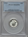 Mercury Dimes: , 1925 10C MS65 Full Bands PCGS. PCGS Population (90/78). NGC Census:(44/19). Mintage: 25,610,000. Numismedia Wsl. Price for...