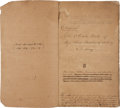 Miscellaneous:Ephemera, [Civil War]. Confederate Letter and Order Book of Shoup's Battalionof Artillery....