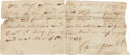 Autographs:Statesmen, David Crockett Partial Document Signed...
