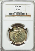 Proof Walking Liberty Half Dollars: , 1939 50C PR65 NGC. NGC Census: (422/1046). PCGS Population(810/1049). Mintage: 8,808. Numismedia Wsl. Price for problem fr...
