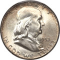 Franklin Half Dollars, 1952 50C MS67 Full Bell Lines PCGS....