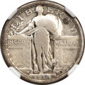 Standing Liberty Quarters, 1916 25C -- Obverse Damage -- NGC Details. VG....