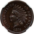 Proof Indian Cents: , 1876 1C PR66 Brown NGC. NGC Census: (6/6). Mintage: 1,150.Numismedia Wsl. Price for problem free NG...