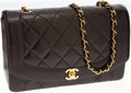Luxury Accessories:Bags, Chanel Black Lambskin Leather Medium Single Flap Bag with GoldHardware. ...