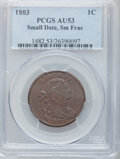Large Cents, 1803 1C Small Date, Small Fraction AU53 PCGS. S-255, B-14, R.1....