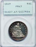 Proof Seated Half Dollars, 1869 50C PR63 PCGS....