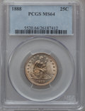 Seated Quarters, 1888 25C MS64 PCGS....