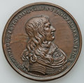 Betts Medals, Betts-39. 1658 Dampville Viceroy of America Medal. Bronze. XF....