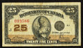 Canadian Currency: , DC-24c 25¢ 1923.. ...