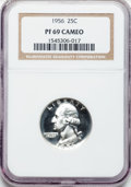 Proof Washington Quarters: , 1956 25C PR69 Cameo NGC. NGC Census: (262/0). PCGS Population(28/0). Numismedia Wsl. Price for problem free NGC/PCGS coin...