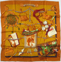 "Luxury Accessories:Accessories, Hermes Olive, Orange, and Green ""Memoire d'Hermes,"" by Caty LathamSilk Scarf. ..."
