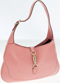Luxury Accessories:Bags, Gucci Pink Leather Jackie O Shoulder Bag with Piston Closure. ...