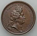Betts Medals, Betts-52, obverse 1, reverse 1. 1677 Victory at Tobago, Bronze.VF....