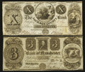 Obsoletes By State:Michigan, Michigan Obsolete Group Lot Fine-Very Fine and better Two Examples.. ... (Total: 2 notes)