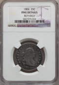 Early Quarters: , 1806 25C -- Repaired -- NGC Details. Fine. NGC Census: (25/238).PCGS Population (69/350). Mintage: 206,124. Numismedia Wsl...