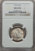 Standing Liberty Quarters: , 1918 25C MS63 Full Head NGC. NGC Census: (57/193). PCGS Population(75/257). Mintage: 14,240,000. Numismedia Wsl. Price for...