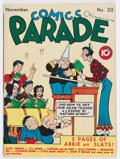 Golden Age (1938-1955):Humor, Comics On Parade #20 (United Features Syndicate, 1939) Condition: VG/FN....