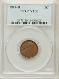 Lincoln Cents: , 1914-D 1C VF30 PCGS. PCGS Population (1/223). NGC Census: (0/124).Mintage: 1,193,000. ...