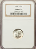 Roosevelt Dimes, 1946-S 10C MS67 Full Torch NGC. NGC Census: (203/1). PCGSPopulation (125/5). Mintage: 27,900,000. Numismedia Wsl. Pricefo...