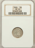 Bust Dimes: , 1829 10C Small 10C XF45 NGC. NGC Census: (8/228). PCGS Population (25/184). Mintage: 770,000. Numismedia Wsl. Price for pro...