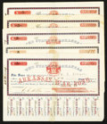 Obsoletes By State:Arkansas, (Little Rock, AR)- State of Arkansas War Bonds $5 August-October 1861 Five Examples. ... (Total: 5 items)