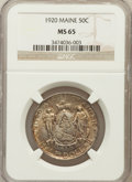 Commemorative Silver: , 1920 50C Maine MS65 NGC. NGC Census: (855/312). PCGS Population(906/414). Mintage: 50,028. Numismedia Wsl. Price for probl...
