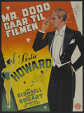 """Movie Posters:Comedy, Stand-In (Constantin Films, R-1940s). Danish Poster (24"""" X 34""""). Comedy. ..."""