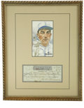 Autographs:Checks, Al Simmons Signed Check Display. Beautiful check dated 1951 sportsa signature from Connie Mack's favored slugger Al Simmon...