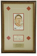 Autographs:Letters, Eddie Collins Cut Signature Display. Stunning display piece puts aperfect cut signature from Hall of Famer and 1914 MVP Ed...