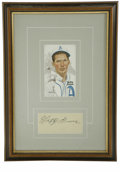 Autographs:Index Cards, Lefty Grove Signed Index Card Display. Attractive display piece features a signed index card from the fiery Hall of Famer L...