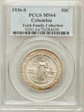 Commemorative Silver, 1936-S 50C Columbia MS64 PCGS. Ex: Teich Family Collection. PCGSPopulation (537/1258). NGC Census: (196/1260). Mintage: 8,...