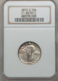 Standing Liberty Quarters: , 1919-S 25C AU55 NGC. NGC Census: (38/153). PCGS Population(50/205). Mintage: 1,836,000. Numismedia Wsl. Price for problem ...