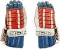 Hockey Collectibles:Equipment, 1980 Mike Eruzione Game Worn USA Olympic Hockey Team Gloves....