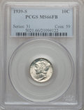 Mercury Dimes: , 1939-S 10C MS66 Full Bands PCGS. PCGS Population (100/34). NGCCensus: (22/10). Mintage: 10,540,000. Numismedia Wsl. Price ...