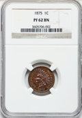 Proof Indian Cents: , 1875 1C PR62 Brown NGC. NGC Census: (8/48). PCGS Population (2/17).Mintage: 700. Numismedia Wsl. Price for problem free NG...