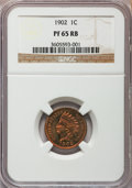 Proof Indian Cents: , 1902 1C PR65 Red and Brown NGC. NGC Census: (110/40). PCGSPopulation (58/29). Mintage: 2,018. Numismedia Wsl. Price for pr...
