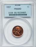 Proof Lincoln Cents: , 1937 1C PR66 Red PCGS. PCGS Population (168/10). NGC Census:(85/12). Mintage: 9,320. Numismedia Wsl. Price for problem fre...