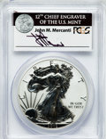 Modern Bullion Coins, 2012-S $1 Silver Eagle, Reverse Proof, 75th Anniversary SanFrancisco Mint Set PR70 PCGS. Ex: Signature of John M. Mercanti...