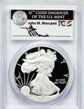 Modern Bullion Coins, 2012-S $1 Silver Eagle, 75th Anniversary San Francisco Mint SetPR70 Deep Cameo PCGS. Ex: Signature of John M. Mercanti, 12...