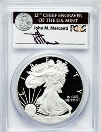 2012-S $1 One-Ounce Silver Eagle, 75th Anniversary, San Francisco Mint Set PR70 Deep Cameo PCGS. Ex: Signature of John M...