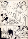 Original Comic Art:Panel Pages, Reed Crandall Feature Comics #62 Doll Man Title PageOriginal Art (Quality, 1942)....
