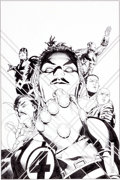 Original Comic Art:Covers, Jim Cheung and Mark Morales New Avengers Illuminati #2 Cover Original Art (Marvel, 2007)....