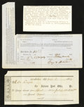 Confederate Notes:Group Lots, Union and Confederate Post Office Postage Due Forms Very Fine TwoExamples.. ... (Total: 3 items)