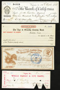Miscellaneous:Other, Nevada Checks and More 1870-80s Very Fine or Better Four Examples..... (Total: 4 items)