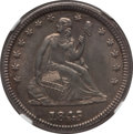 Seated Quarters: , 1845 25C MS61 NGC. NGC Census: (7/48). PCGS Population (2/40).Mintage: 922,000. Numismedia Wsl. Price for problem free NGC...