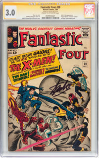 Fantastic Four #28 Signed by Stan Lee (Marvel, 1964) CGC Signature Series GD/VG 3.0 Cream to off-white pages