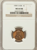 Lincoln Cents: , 1909-S VDB 1C MS64 Red and Brown NGC. NGC Census: (773/452). PCGSPopulation (1623/771). Mintage: 484,000. Numismedia Wsl. ...