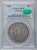 Bust Half Dollars: , 1809 50C III Edge XF45 PCGS. CAC. PCGS Population (19/55). NGCCensus: (15/199). Numismedia Wsl. Price for problem free NG...