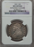 Bust Half Dollars: , 1829 50C Small Letters -- Improperly Cleaned -- NGC Details. Unc.NGC Census: (2/269). PCGS Population (12/220). Mintage: 3...